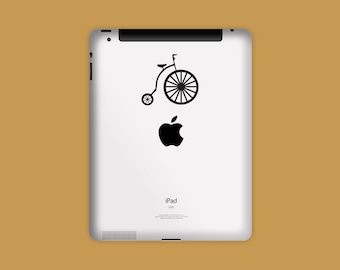 Vinyl Decal, PENNY FARTHING BIKE Decal, iPad Decal, Tablet Decal