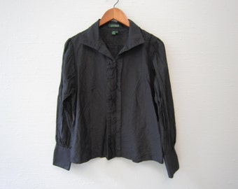 vintage black silk Blouse by Ralph Lauren