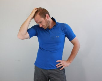 Vintage Blue Polo Shirt by Campus Le Tigre