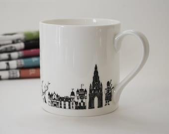 Scotland Mug - Scotland Art - Scotland gifts - Scotland drawing - Scotland wedding gift