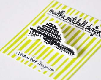 Brighton West Pier Brooch - Brighton Pin Brooch - Brighton Brooch - Brighton Badge - Brighton Jewellery
