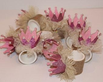 Crown Princess Napkin Rings Set of 8