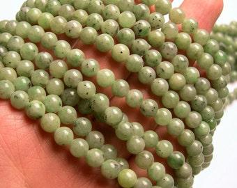 Jade - 6mm - round - 65  beads - full strand - RFG934