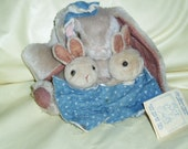 Mama and Baby Bunny Rabbits Plush Toy Old Bears repeating Limit Edition Bunny Bunch