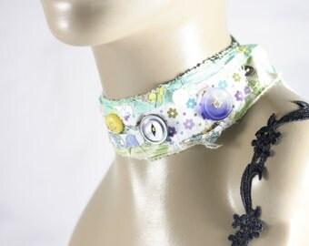 Bossy little ducks -OOAK, Neck-Cessory,choker,necklace,bandana,scarf