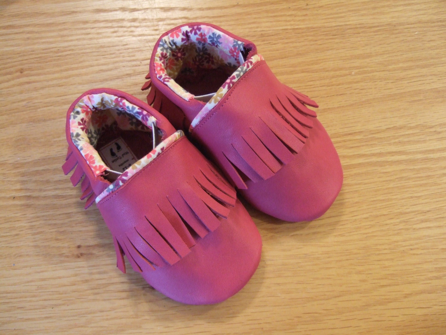 baby girls pink fringe moccasins size 4 6 12 month baby shoes