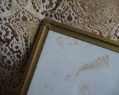 Vintage Gold Picture Frame 8 x 10 Embossed Metal, French Fleur de Lis BEAUTIFUL