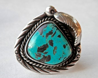 Navajo Ring, Turquoise Ring, Turquoise Jewelry, Mens Ring, Size 9, Native American, Southwestern Jewelry, Vintage Navajo Jewelry, 925