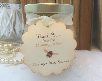 Mommy to Bee Tags Bee Baby Shower Tags Honey Favor Tags Thank You Set of 10