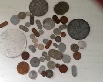 Metal Blanks / Rusty Metal Blanks / Metal Art Supply / Metal Crafting / Metal Jewrey Supply / Rusty Blanks /
