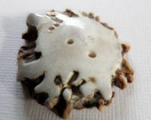 Hand Carved Antler Button Large
