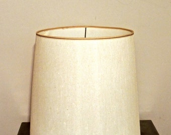 vintage barrel lampshade - 1950s-60s mid century lamp shade