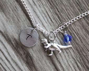 Dinosaur Necklace, T-Rex Necklace Jewelry, Dinosaur Jewelry, T-Rex Jewelry, Gift for Dinosaur Lover