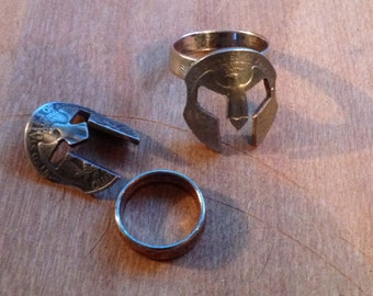 Spartan Mask Ring or Pendant