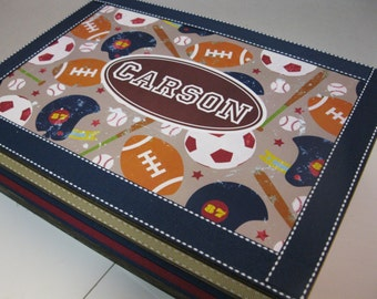 Boys Sports Themed  Keepsake Box
