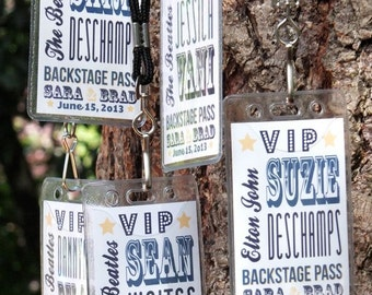 Backstage Pass Escort Cards - Wedding VIP Pass - Concert Back Stage Passes - Music Theme - Place cards - Lanyards - Deposit to get started
