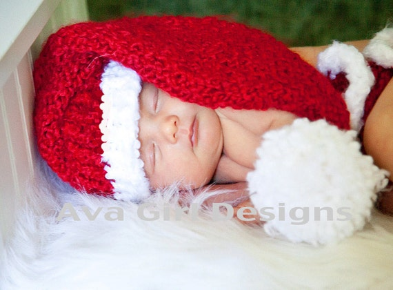 Baby Santa Hat Diaper Cover - Knifty Knitter Loom Pattern ...