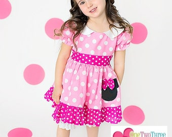 Minnie Mouse Clothing Bubble gum hotpink Bloomers set  Sassy Girl