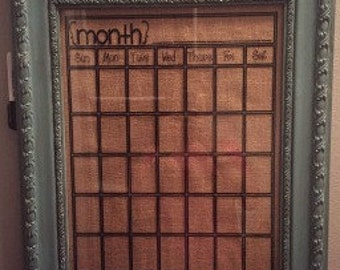 Dry Erase Calendar - Vinyl Wall Art, Graphics, Lettering, Decals, Stickers,