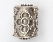 Fancy Sterling Silver Barrel Bead (A61)