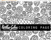 50% Off- Fish coloring, Ocean Art coloring book, adult coloring book, coloring pages, adult coloring pages, coloring book for adults