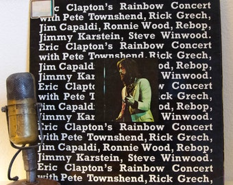 "ON SALE Eric Clapton Classic Rock ""Rainbow Concert""(SCARCE French Import 1973 Rso w/ Pete Townshend,Steve Winwood & Ron Wood)Vintage Gatefol"