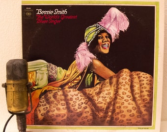 "Bessie Smith Vinyl 2LP's 1920 and 1930s Blues Jazz Female Singer Diva Entertainer ""The World's Greatest Blues Singer"" (Mono 1970 Columbia)"