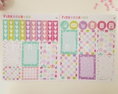 Happy planner weekly functional- Matte paper planner stickers - functional and perfect for all planners