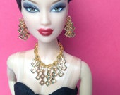 Gold Doll Jewelry for Silkstone Barbie Fashion Royalty S829