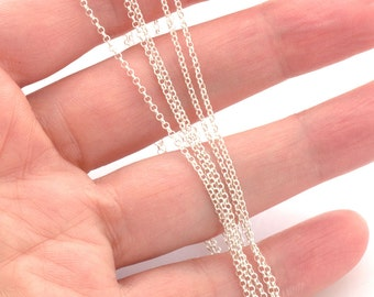 Unfinished sterling silver chain by meter - sterling rolo chain 1.2mm