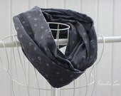infinity scarf black denim look, double gauze circle scarf holiday gift