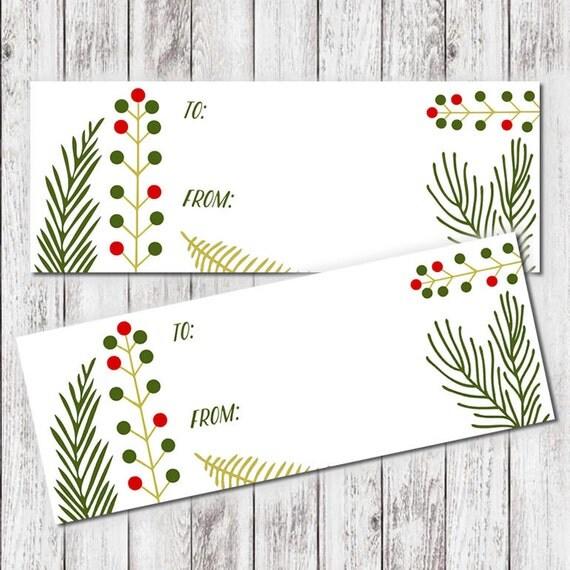 PRINTABLE Pine Berry Holiday Tags