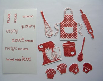 Love to Bake Diecut Collection; Baking icons for scrapbooking, daily planners, journalling, cardmaking
