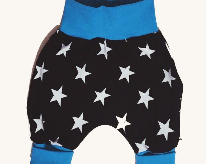 Baby kids toddler girl boy clothing harem pants baggy pants sweat pants KING BLUE. Size preemie - 3 y