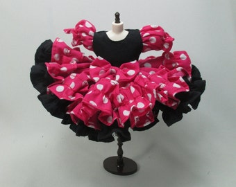 Handmade Outfit dress for Blythe doll fancy costume pink mickey mouse