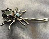 HALLOWEEN SALE Rhinestone Spider Bobby Pin
