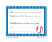Baseball PRINTABLE Fill-in-the-Blank Thank You Note
