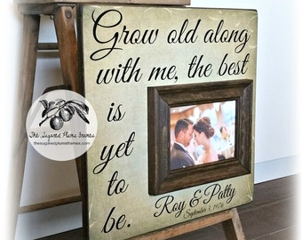 Unique Wedding Gift Grow Old With Me The Best Is Yet To Be