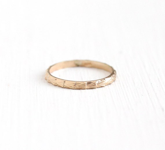 Vintage 10k Rose Gold Baby Midi Ring Band 1930s Size 1 Art