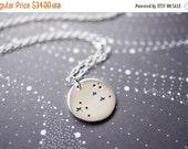 14OFFSALE Necklace, Silver Necklace, Star Necklace, Zodiac Necklace, Constellation Necklace, Leo, The Lion, No. NSCC046