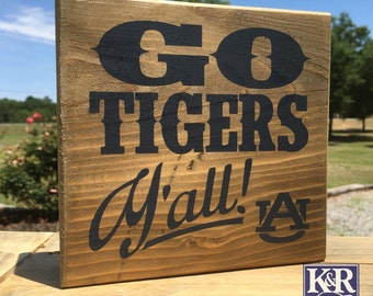 Auburn Tigers ~ War Eagle painted sign wood wall decor