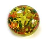 5 Petal Flower Glass Paperweight