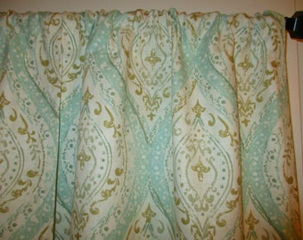 Two Curtain Panels Spa Beauty  Your Size Choice