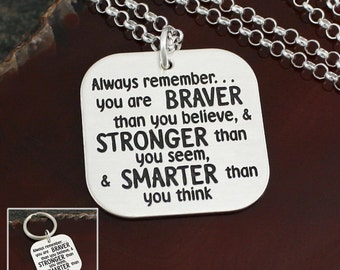 Always Remember - Inspirational Sterling Silver Necklace