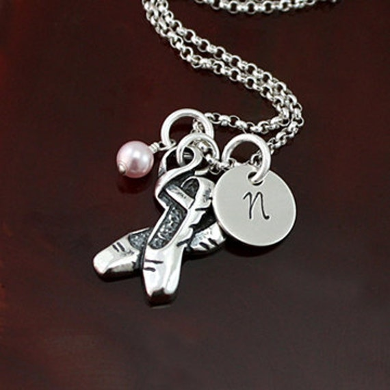 Tiny Dancer - Ballet Dance Necklace -  Sterling Silver Personalized Necklace