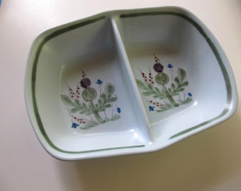 Divided Dish Buchan Scotland Thistle design hand painted