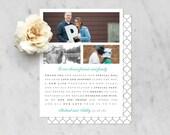 Custom Listing for Ashley—Printable   Customizable Wedding Thank You Notecard with Photos