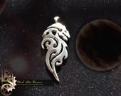 GLAURUNG Tribal Trickster Dragon STERLING - Tolkien, Tribal Carving, Carved Dragon, Sterling Dragon, Geeky Gift, Silver Dragon Pendant