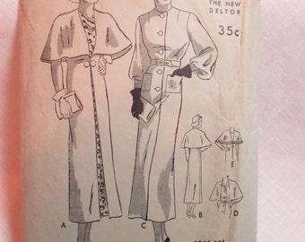 "Antique 1930's Butterick Pattern #6316 - size 38"" Bust"