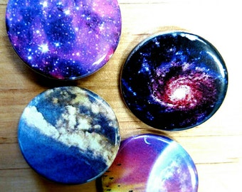 Space galaxy pins lot of 4